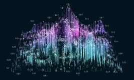 Abstract 3D big data concept. Futuristic infographics design. complexity. Social network or business visual information analytics stock illustration