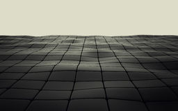 Abstract 3d black geometric background. Black texture with shadow. 3D render Royalty Free Stock Image