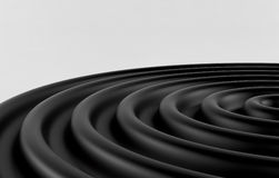 Abstract 3d black geometric background. Black texture with shadow. 3D render Royalty Free Stock Photo