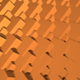 Abstract 3D blocks geometry. Polygonal rendered geometry made of blocks. Light and shade vector illustration