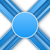 Abstract 3D blue background. Vector illustration for your design Royalty Free Stock Images