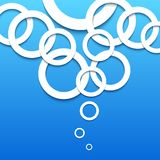 Abstract 3D blue circles background. Royalty Free Stock Photo