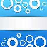 Abstract 3D blue circles background. Stock Photography