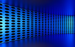 Abstract 3d blue geometrical background. White texture with shadow. 3D render Royalty Free Stock Image