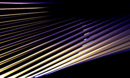 Abstract 3D Blue & Golden Colored Lines. Abstract Wallpaper , Abstract Background stock illustration