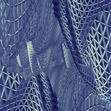 Abstract 3D blue net cloth background Royalty Free Stock Photos