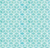 Abstract 3d blue square geometric seamless pattern. vector illustration. Eps10 Royalty Free Stock Photos