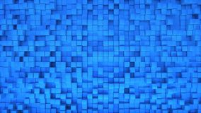 Abstract 3D Box Background with Random Position Blue stock illustration