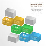 Abstract 3d box infographics Royalty Free Stock Image
