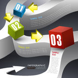 Abstract 3d box infographics Stock Images