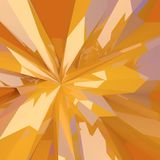 Abstract low poly broken yellow glass background. Abstract 3d broken yellow, orange, shiny  low poly glass modern elegant background Royalty Free Stock Photos