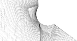 Abstract 3D building wireframe structure. Illustration construct. Ion graphic idea , Architectural sketch idea vector illustration