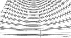 Abstract 3D building wireframe structure. Illustration construct. Ion graphic idea , Architectural sketch idea stock illustration