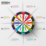 Abstract 3D business diagram Infographic. Can be used for workflow layout, data visualization, business concept with 8 options, parts, steps or processes Stock Images