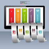 Abstract 3D business infographic design template. EPS10 Stock Photography