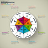 Abstract 3D business information Infographic Stock Photography