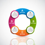 Abstract 3D business options infographics template. Stock Photography
