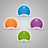 Abstract 3D business options infographics template. Stock Photos