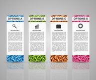 Abstract 3D business options infographics template. Vector illustration Stock Photos