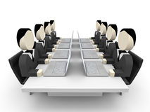 Abstract 3D business people. Meeting. Royalty Free Stock Photo