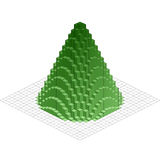 Abstract 3d Christmas tree. Vector Christmas tree form green square block. Design abstract 3d illustration Royalty Free Stock Photos