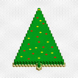 Abstract 3d christmas tree. Vector christmas tree form green square block. Design abstract 3d illustration Stock Photography