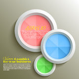 Abstract 3d circle. S background design Stock Photography