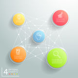 Abstract 3d circle infographic 5 options, Business concept infographic. Template can be used for workflow layout, diagram, number options vector illustration