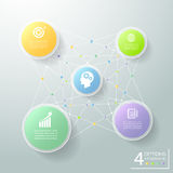 Abstract 3d circle infographic 5 options, Business concept infographic. Template can be used for workflow layout, diagram, number options royalty free illustration
