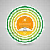 Abstract 3D circle paper options infographics. Royalty Free Stock Images