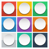 Abstract 3d Circles info graphics for work flow layout, diagram, number options, web design. Abstract 3d white circles info graphics for work flow layout Stock Photos