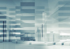 Abstract 3d city background. Cityscape Royalty Free Stock Photos
