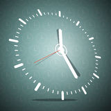 Abstract 3D Clock Face Vector Illustration. On Blue Background Royalty Free Stock Image