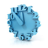 Abstract 3d clock. On white background vector illustration
