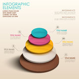 Abstract 3d color tower infographics. Realistic vector abstract 3d color tower infographic elements stock illustration