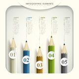 Abstract 3d colored pencil infographics