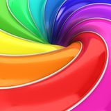Abstract 3d colorful background. 3d illustration Royalty Free Illustration