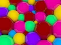 Abstract 3D colour spheric background Stock Image