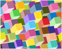 Abstract 3d columns background. Colorful abstract wallpaper with Sd cubes stock illustration