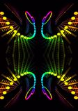 Abstract 3d computer generated artistic multicolored energetic fractal shapes artwork. An artistic abstract 3d computer generated smooth beautiful energetic vector illustration