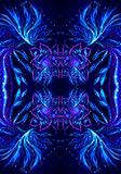 Abstract 3d computer generated bright colorful fractals artwork background royalty free illustration