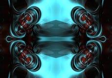 3d computer generated artistic unique multicolored futuristic energetic bright abstract fractals artwork background. An abstract 3d computer generated stock illustration