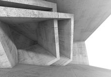 Abstract 3 d Concrete room interior Royalty Free Stock Images