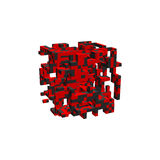 Abstract 3d construction in form of cube. Vector illustration. Abstract 3d construction in form of cube. Isolated on white background. Vector illustration Royalty Free Stock Photo