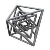Abstract 3d construction Royalty Free Stock Image