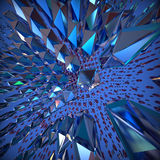 Abstract 3d crystal background. Royalty Free Stock Photo