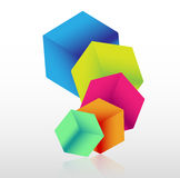Abstract 3d cube background Stock Images