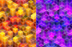 Abstract 3d cube background. Beautiful abstract background 3d colorful suqares design Stock Photography