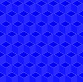 Abstract 3d cube box pattern background. Blue triangle and rhombus pattern background, 3d isometric illustration pattern background Royalty Free Stock Photos