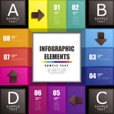 Abstract 3d cube infographics. Modern vector abstract 3d cube infographic elements stock illustration